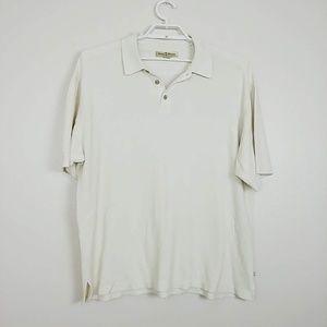 Tommy Bahama Silk Blend Polo Shirt Cream XL #3939